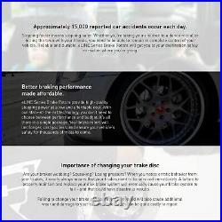 For 2010-2015 Chevrolet Camaro Front Rear Black Drill/Slot Brake Rotors