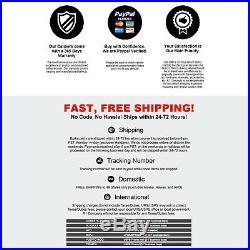 For 2013-2016 Dodge Dart Front Rear Black Drill Slot Brake Rotors+Ceramic Pads