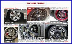 For 2015 2018 Subaru WRX Front+Rear Drill Slot Brake Rotors & Ceramic Pads