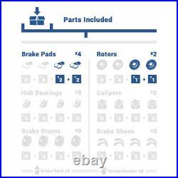 For Escalade Sierra Tahoe Yukon Rear Drill & Slot Brake Rotors And Ceramic Pads
