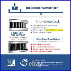 For Hyundai Santa Fe Sorento Front+Rear Drill & Slot Brake Rotors & Ceramic Pads