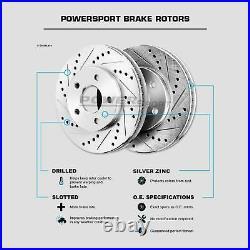 For Infiniti, Nissan G35, 350Z Front Rear Drill Slot Brake Rotors+Ceramic Pads
