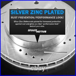 For Infiniti Q50 Q60 Front+Rear Drill Slot Brake Rotors & Ceramic Pads
