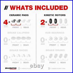For K2500 K3500 Suburban 4WD Front Drill Slot Brake Rotors + Carbon Ceramic Pads