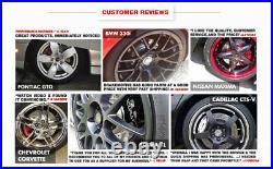For Mercedes Benz C320 C240 Front + Rear Drill Slot Brake Rotors & Ceramic Pads
