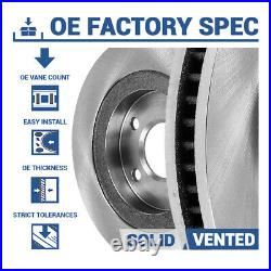 For Mercedes Benz S430 S500 FRONT & REAR Drill Slot BRAKE ROTORS & CERAMIC Pads