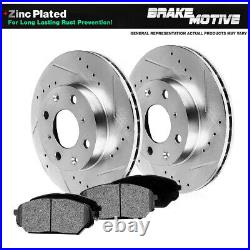 For Pontiac G5 Chevy Cobalt Ion Front Drill Slot Brake Rotors & Metallic Pads