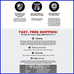 For Porsche Cayenne Front Rear Black Drill Slot Brake Rotors+Ceramic Brake Pads