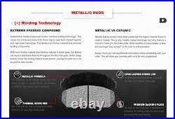 For Sierra Silverado Suburban 2500 REAR Drill Slot BRAKE ROTORS & METALLIC Pads