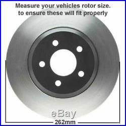 Front + 262mm Rear Brake Pads & Drilled Rotor Jeep Compass Patriot 200 Sebring