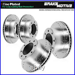 Front And Rear Brake Disc Rotors For Chevy Silverado 2500 HD 2011 2012 2013