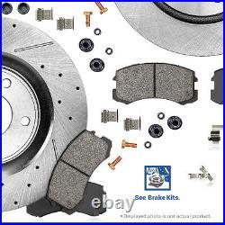 Front And Rear Drill Slot Brake Disc Rotors For MITSUBISHI LANCER DE ES SE