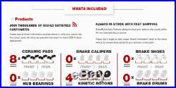 Front And Rear Drill Slot Brake Rotors + Ceramic Pads For 2000-2009 Honda S2000