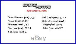 Front Black Drilled Slotted Brake Rotors And Pads Silverado Tahoe Sierra Yukon