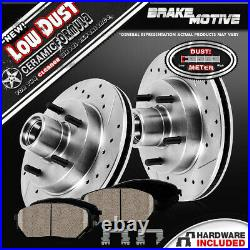 Front Brake Rotors And Ceramic For Ford F150 E150 1987 1988 1989 1990- 1992 1993