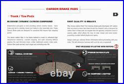 Front Brake Rotors & Carbon Ceramic Pads For Chevy Silverado Tahoe Sierra Yukon