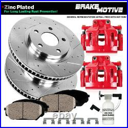 Front Calipers Rotors & Pads For 1994 1995 1996 1997 1998 1999 DODGE RAM 1500