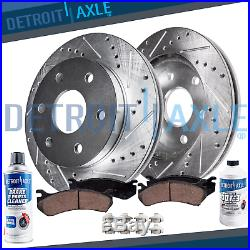 Front DRILLED Brake Rotors + Ceramic Pads 2010 2011 2012 2013 2018 Ford F-150