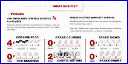 Front DRILLED Disc Rotors & Ceramic Pad for 2005 2014 Toyota Tacoma FJ Cruiser