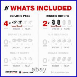 Front Drill Slot Brake Disc Rotors And Ceramic For Suzuki Grand Vitara XL-7