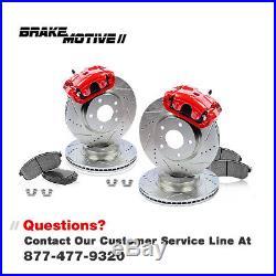 Front Drill Slot Brake Rotors And Ceramic Pads 2004 2008 Ford F150 4X4 Mark Lt