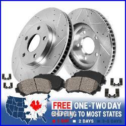 Front Drill Slot Brake Rotors And Ceramic Pads For Aspen Durango Ram 1500 5Lug