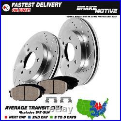 Front Drill Slot Brake Rotors & Ceramic Pads 2010 2011 2012 2013 2014- 2016 F150