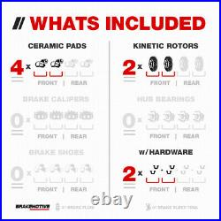 Front Drill Slot Brake Rotors + Ceramic Pads For 2013 2014 2019 Nissan Altima