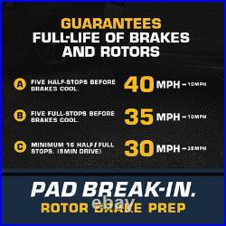 Front Drill Slot Brake Rotors +Ceramic Pads For Chevy Express Silverado Yukon