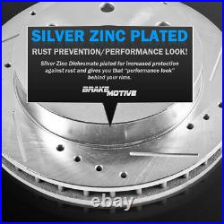 Front Drill Slot Brake Rotors Ceramic Pads For Explorer Ranger Mountaineer 4WD
