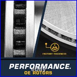 Front Drill & Slot Brake Rotors & Ceramic Pads For Jeep Cherokee XJ Wrangler TJ