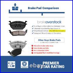 Front Drill Slot Brake Rotors & Ceramic Pads For K2500 K3500 Suburban 1500 2500