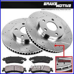 Front Drill Slot Brake Rotors + Ceramic Pads For Lexus ES300 Toyota Camry Sienna