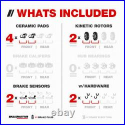 Front Drill Slot Brake Rotors & Ceramic Pads For Mercedes Benz E320 E350 W211