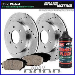 Front Drill Slot Brake Rotors Ceramic Pads For Rainier Chevy Trailblazer Envoy