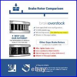 Front Drill Slot Brake Rotors & Ceramic Pads For Scion IQ Toyota Prius Yaris