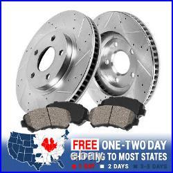 Front Drill Slot Brake Rotors & Ceramic Pads For Scion TC Toyota Celica GT GTS