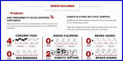 Front Drill Slot Brake Rotors & Ceramic Pads Town Country Dodge Grand Caravan VW