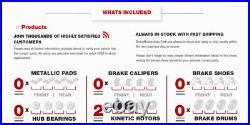 Front Drill Slot Brake Rotors For 07-09 Aspen 04-09 Durango 2002- 2013 Ram 1500