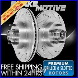 Front Drill Slot Brake Rotors For 1994 2000 2001 Ford E150 1994 1995 1996 F150