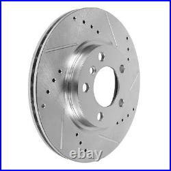 Front Drill Slot Brake Rotors For 2004 2005 2006 2007 2008 Acura TL TLS Type S