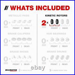 Front Drill Slot Brake Rotors For 2005 2006 2007 2008 2009 2010 Honda Odyssey