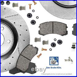 Front Drill Slot Brake Rotors For 94 95 96 97 98 99 00 01 02 03 04 Ford Mustang