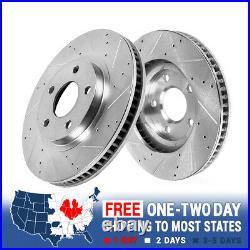 Front Drill & Slot Brake Rotors For Camaro Chevelle El Camino Firebird Trans Am