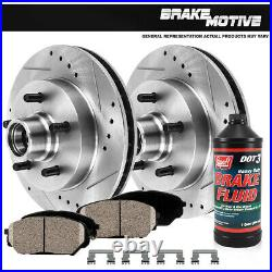 Front Drill Slot Brake Rotors and Ceramic Pads For 2003 2010 2011 Ford Ranger