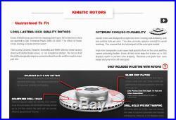 Front Drilled And Slotted Brake Rotors & Ceramic Pads Acura MDX ZDX Honda Pilot