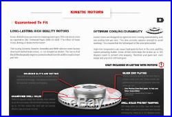 Front Drilled And Slotted Brake Rotors & Ceramic Pads Toyota Tundra Land Cruiser