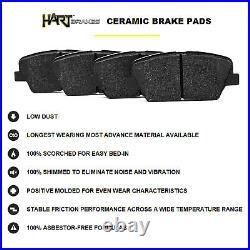 Front Kit Black Hart Drill/slot Disc Brake Rotors And Ceramic Pad Bhcf. 6608002