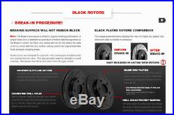 Front+Rear Black Drilled Slotted Brake Rotors & Ceramic Pads 1998 2002 Camaro