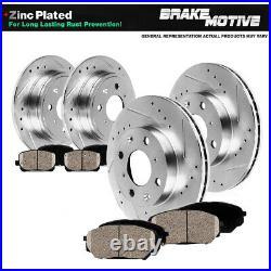 Front+Rear Brake Disc Rotors + Ceramic Pads For 1989 -1991 1992 1993 Mazda Miata